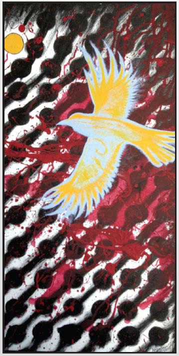 RED EYE (MIDNIGHT FLIGHT) BY BURDETTE BIRDINGROUND