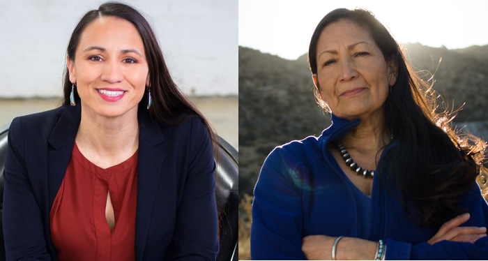 SHARICE DAVIDS AND DEB HAALAND
