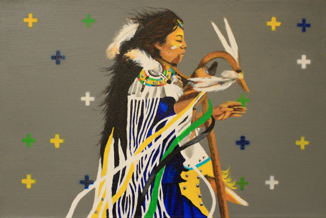 Sáán Bigishé by Derayna DeClay of the Institute of American Indian Arts