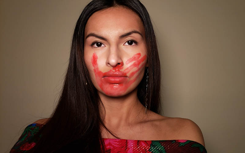 Eka Mo'O Waipuh  Red Hand Woman by Kayla Bointy of Haskell Indian Nations University