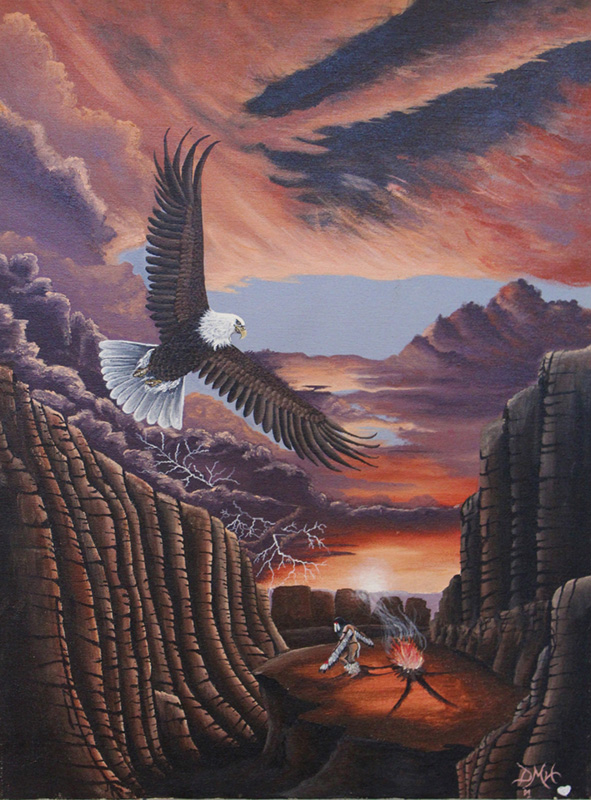 Eagle by Donnette Medicine Horse of Sitting Bull College