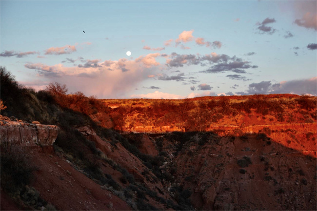 Moon by Ritchie Lands of Diné College