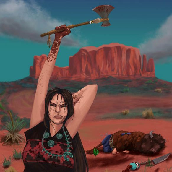 Yanni Slayer by Savanah Platero of the Institute of American Indian Arts