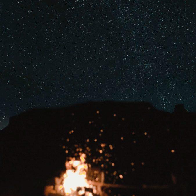 Night Sky by Alyssa Nakai - Night of Navajo Technical University