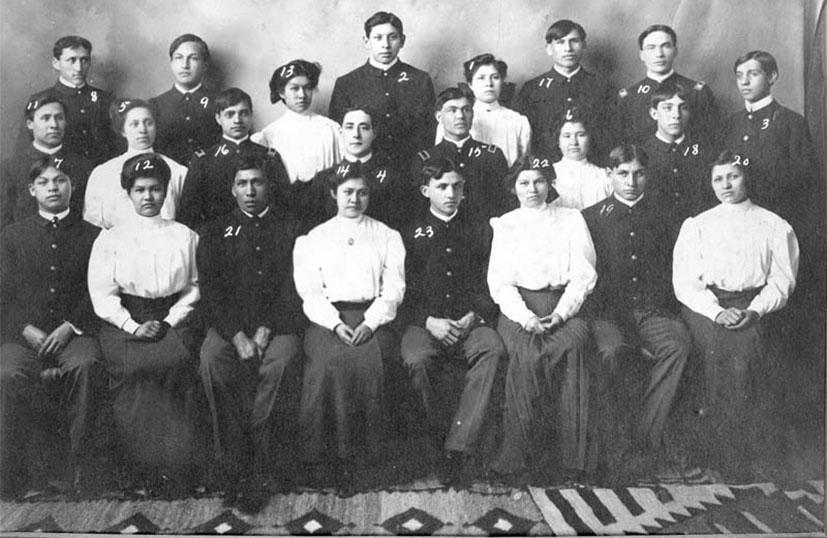 Carlisle Industrial School class, 1907